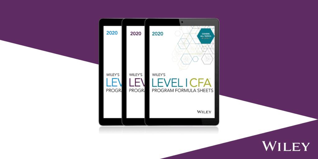 Wiley CFA Formula Sheets
