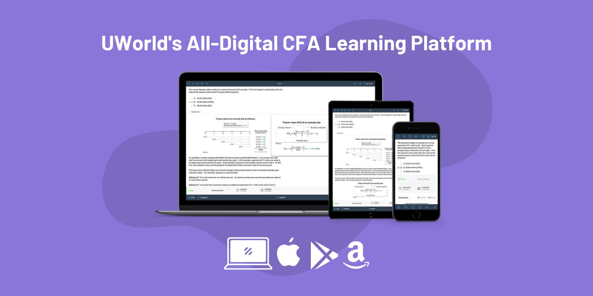 UWorld CFA Provider All Digital Platform