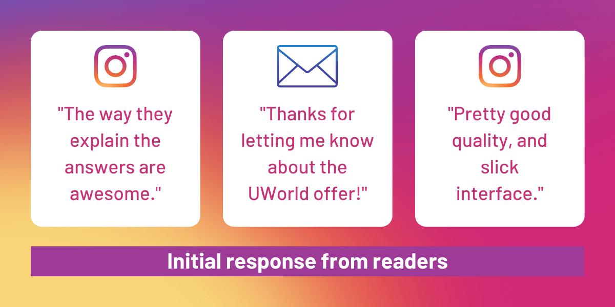 UWorld CFA Provider Testimonials