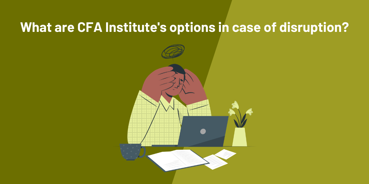 What are CFA Institute's options in case of cancellation or postponement