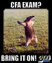 CFA Exam? Bring it on!
