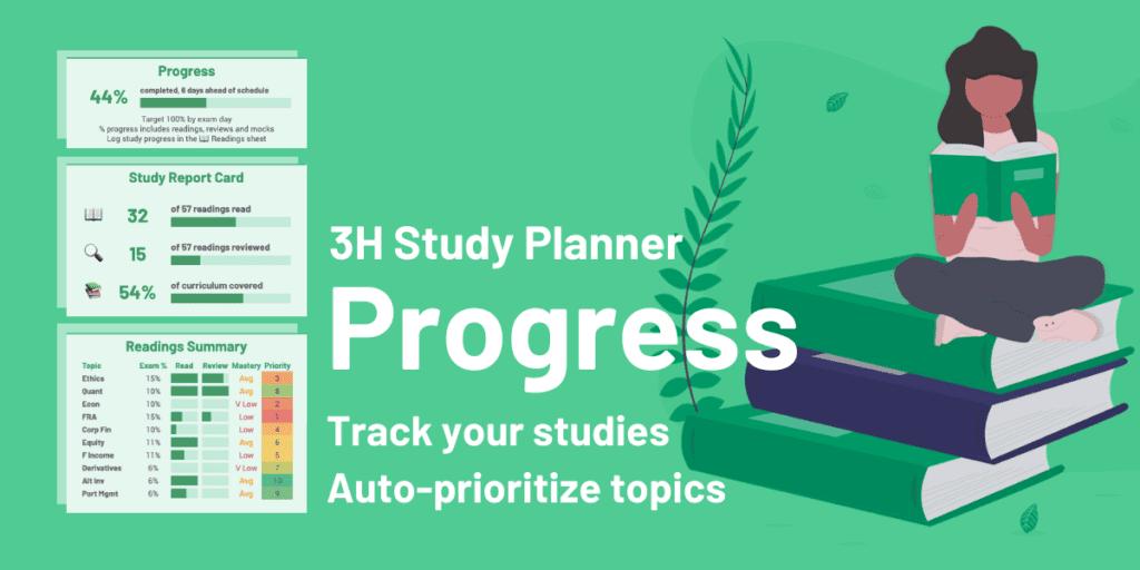 CFA Study Planner - Track Progress