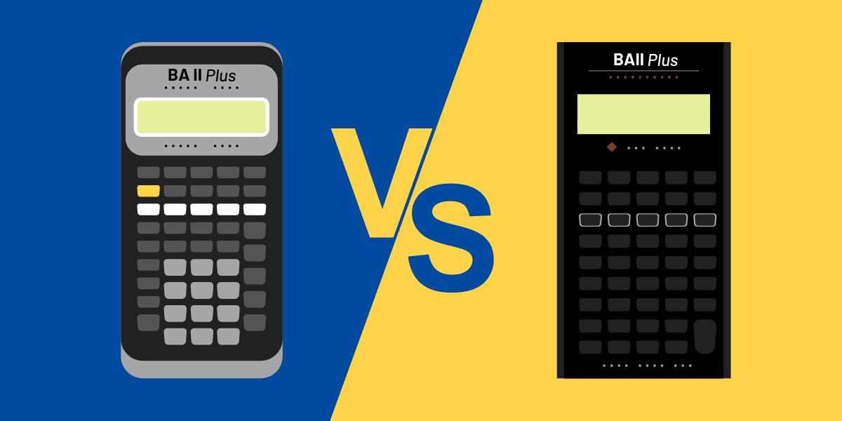 BA II Plus vs BA II Plus Professional