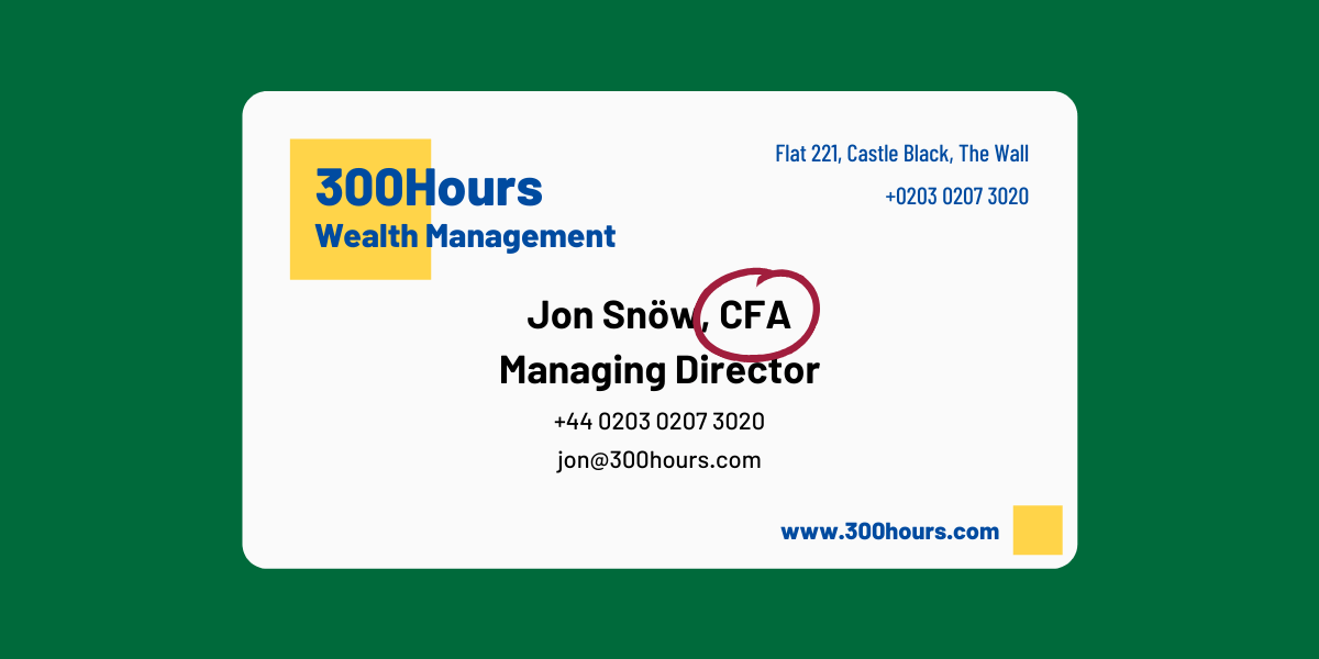 How to Display CFA on Business Cards and Email