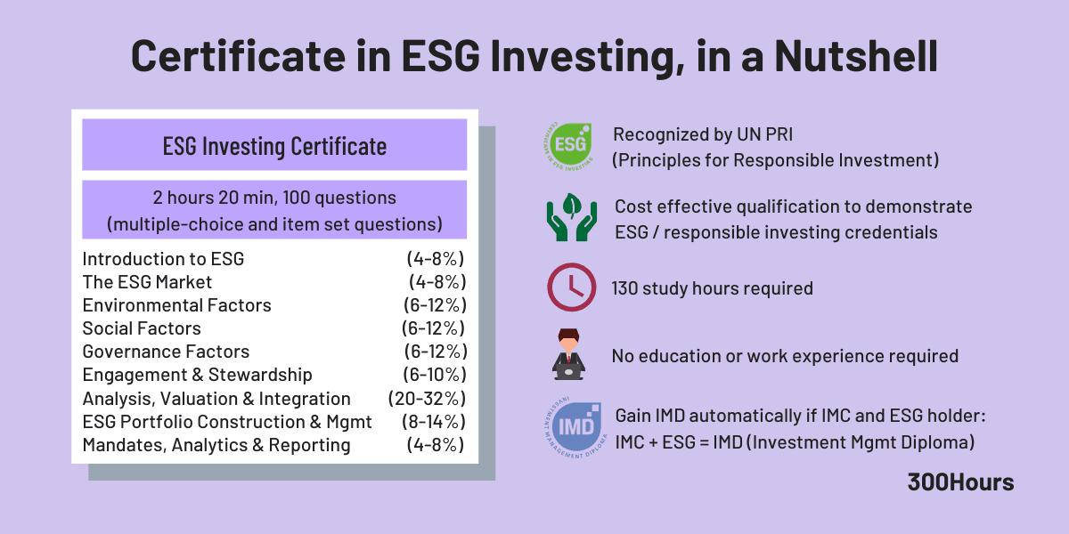 CFA UK ESG Certification summarized