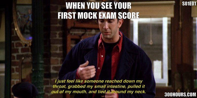 CFA Friends Meme: Improve Low CFA Mock Exam Scores