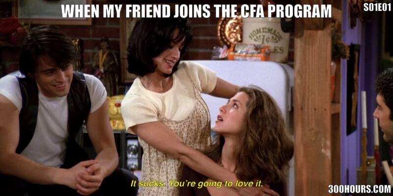CFA Friends Meme: Starting the CFA Program Exams