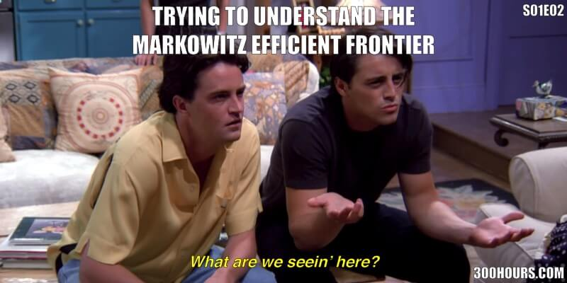 CFA Friends Meme: Difficult CFA Topics Markowitz Efficient Frontier