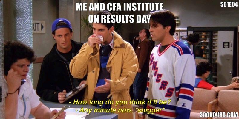 CFA Friends Meme: CFA Results Day When Waiting