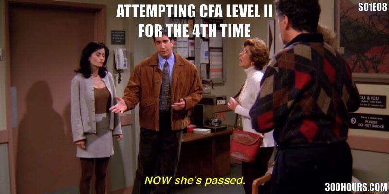 CFA Friends Meme: CFA Exam failing but passing on retrying