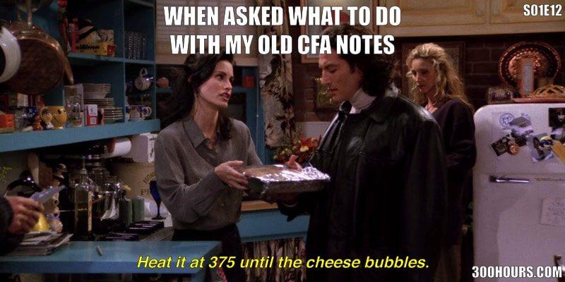 CFA Meme: Old CFA Exam Study Notes