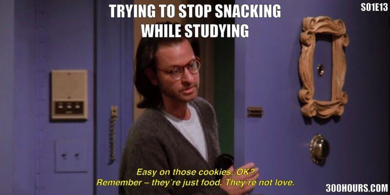 CFA Friends Meme: Study Snacking