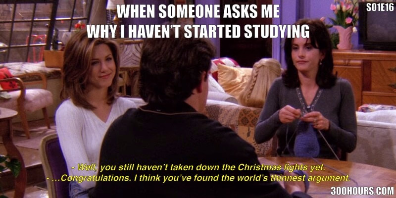 CFA Friends Meme: Procrastinating CFA Study