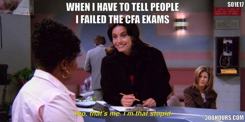 CFA Friends Meme: Failing the CFA Exams
