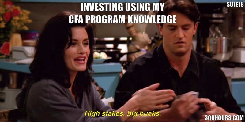 CFA Friends Meme: Investing Using my own CFA knowledge, superior returns guaranteed.