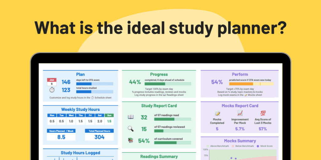 Customize Your Free CFA Study Planner 1