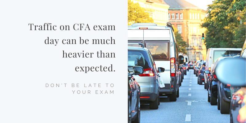 Plan for heavier traffic on CFA exam day