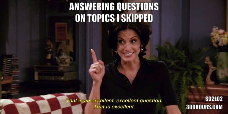 CFA Friends Memes: Skipping Topics