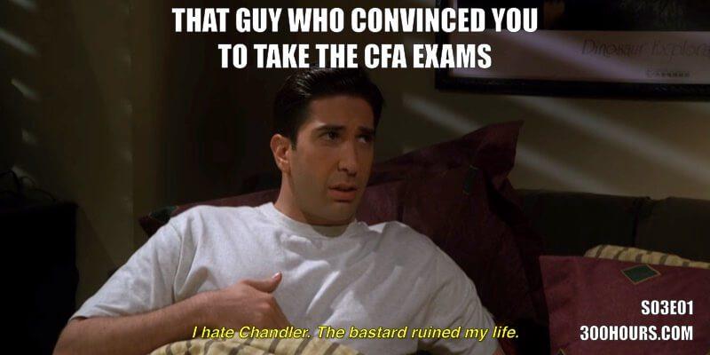 CFA Friends Meme: Registering for the CFA exams