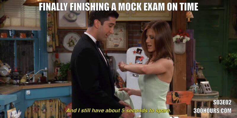 CFA Friends Meme: CFA exam time management