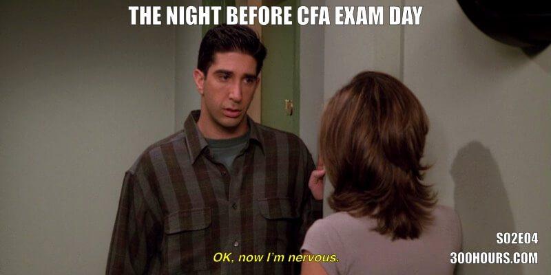 CFA Friends Memes: Nervous before CFA Exam Day
