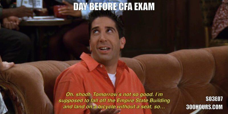 CFA Friends Meme: CFA Exam Day Tomorrow