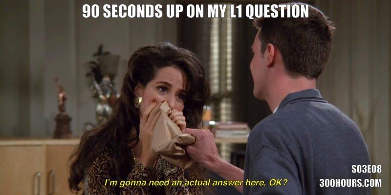 CFA Friends Meme: 90 seconds per question on CFA Level 1