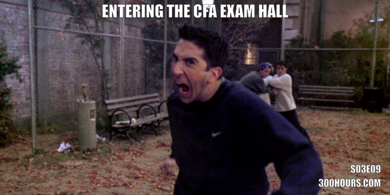 CFA Friends Meme: Entering the CFA exam hall