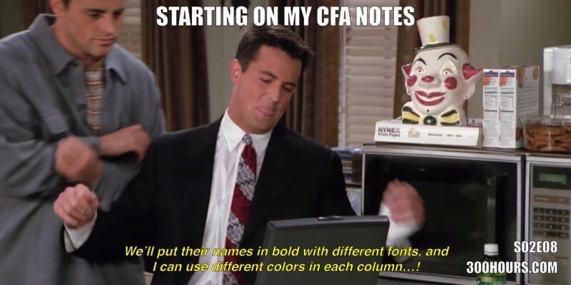 CFA Friends Memes: Study Notes