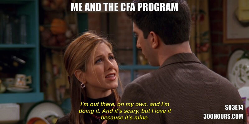 CFA Friends Meme: Me and the CFA Program