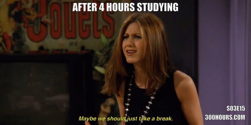 CFA Friends Meme: Take Study Breaks