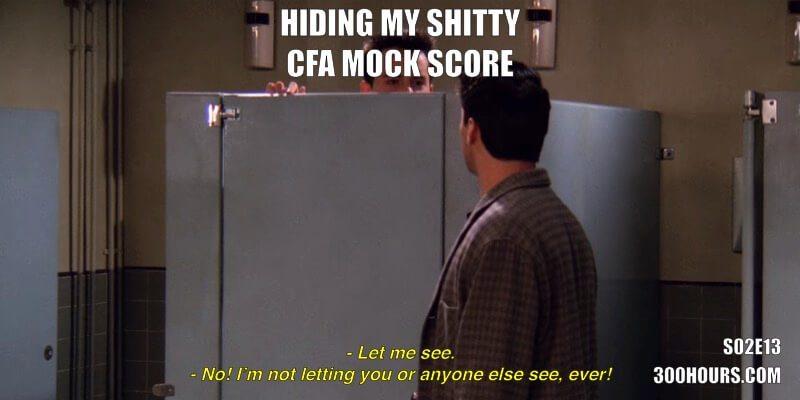 CFA Friends Memes: Low Mock Exam Score