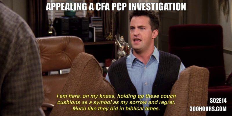 CFA Friends Memes: PCP investigation