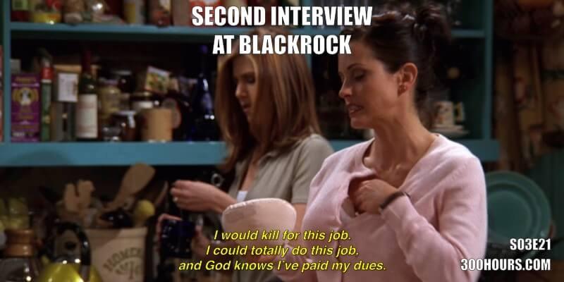 CFA Friends Meme: Second Interview at Blackrock