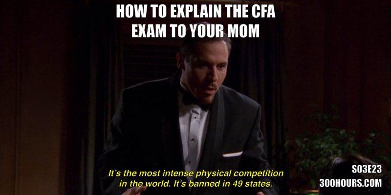 CFA Friends Meme: How to explain the CFA exam to your mom