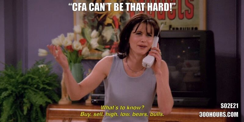 CFA Friends Memes: CFA is not hard or difficult