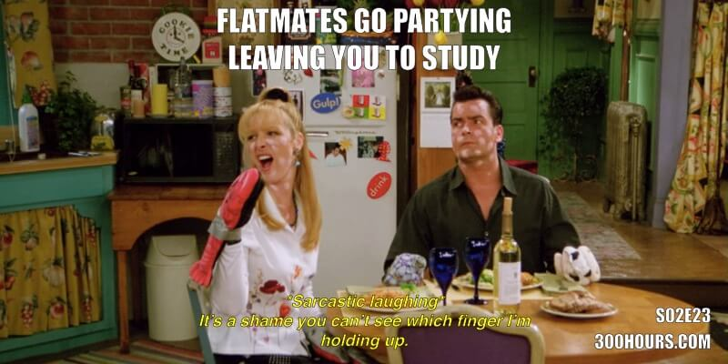 CFA Friends Memes: Studying on the weekend