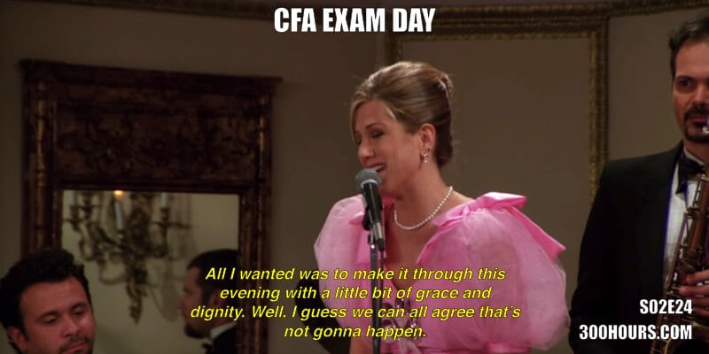 CFA Friends Memes: CFA Exam Day