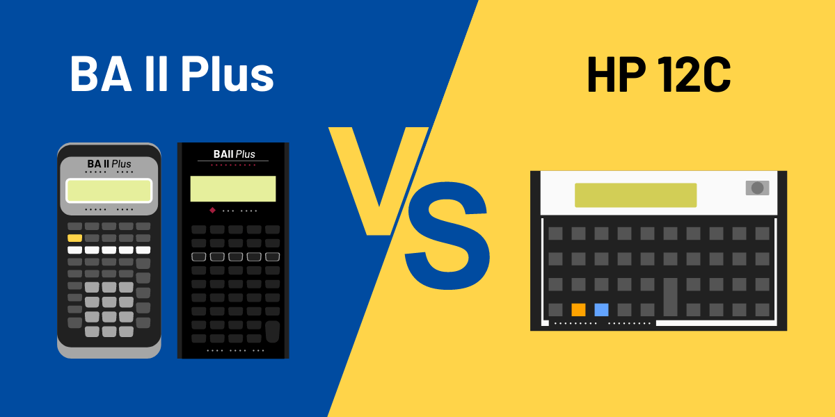 ti ba ii plus vs hp 12c