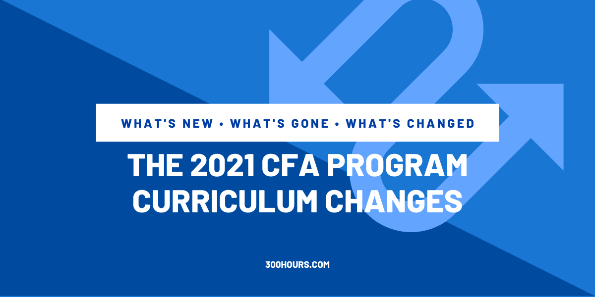 CFA curriculum changes and topic weights