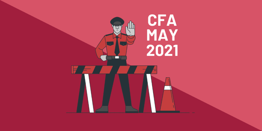 You can't postpone your Feb21 CFA exam to May21 (anymore). Jul21, Aug21 and Nov21 are available.